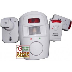 ALARM SENSOR WITH 2 remote controls siren 105db