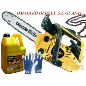 ALPINA CHAINSAW TO PRUNE A305sc KIT, OIL, GLOVES, CHAIN, AND