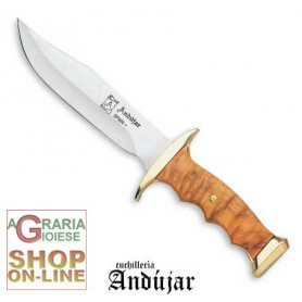 ANDUJAR BOWIE STAINLESS STEEL BLADE CM. 17 HANDLE IN OLIVE CS