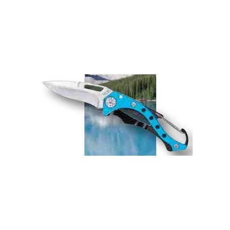 AUSONIA coltello con moschettone mancico in allumino cm. 12