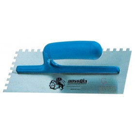 AUSONIA STEEL TROWEL TOOTHED PLASTIC HANDLE CM. 28x12