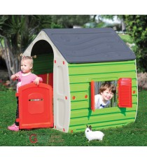 Casetta per bambini in resina termoplastica cm. 102x90x109h