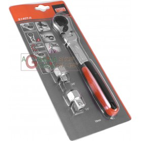 BAHCO ART. S140T-R SOCKET WRENCHES WITH RATCHET PASSER-BY PCS. 3