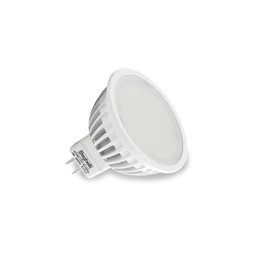 Beghelli lampada a led 56033 mr16 12v 4w luce calda for Led luce calda