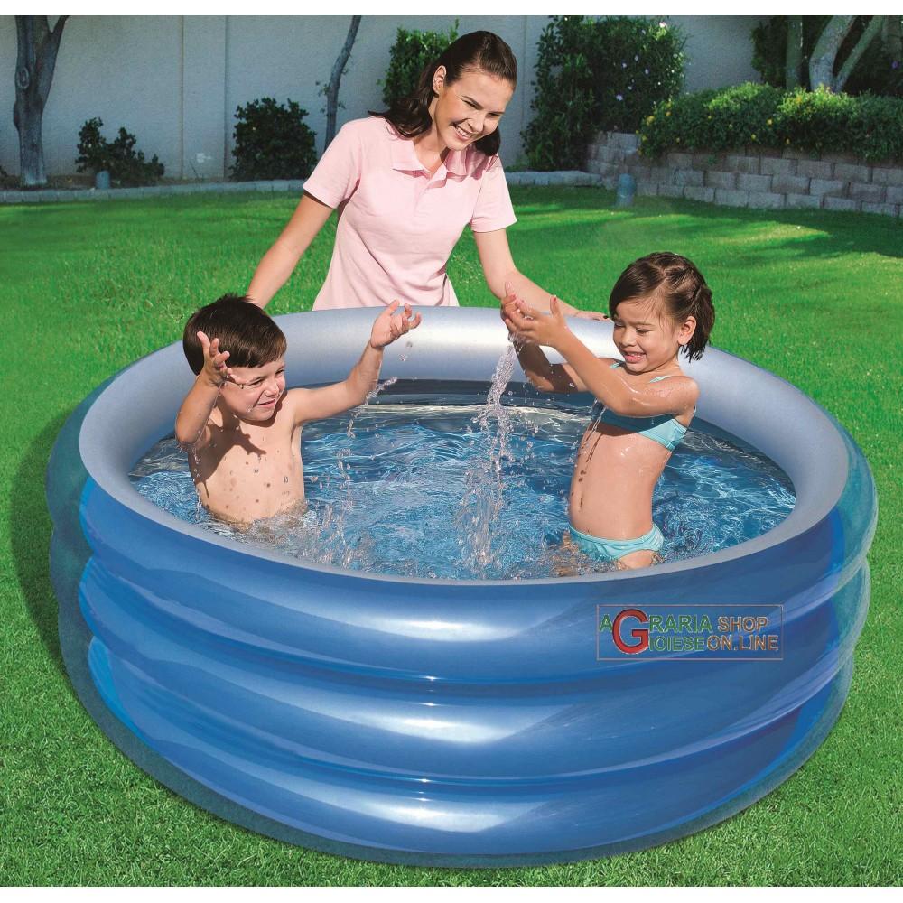 Bestway 51041b piscina tonda blu per bambini cm 150x53h - Piscine per bambini piccoli ...