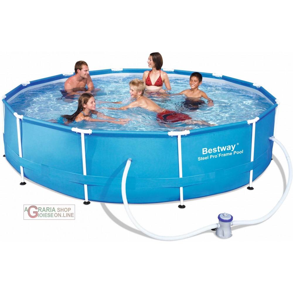 Bestway 56062 piscina con telaio con pompa for Piscina bestway