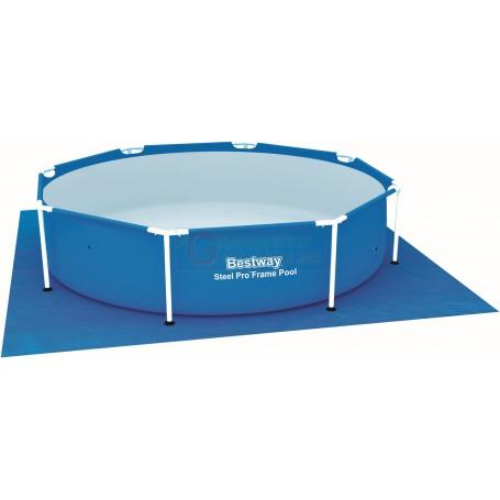 Bestway 58000 tappetino telo di base per piscina quadrato cm 274x274 - Tappetino per piscina ...