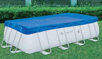 Bestway 58231 telo top copertura piscina con telaio diam cm 287x201 - Telo copri piscina ...