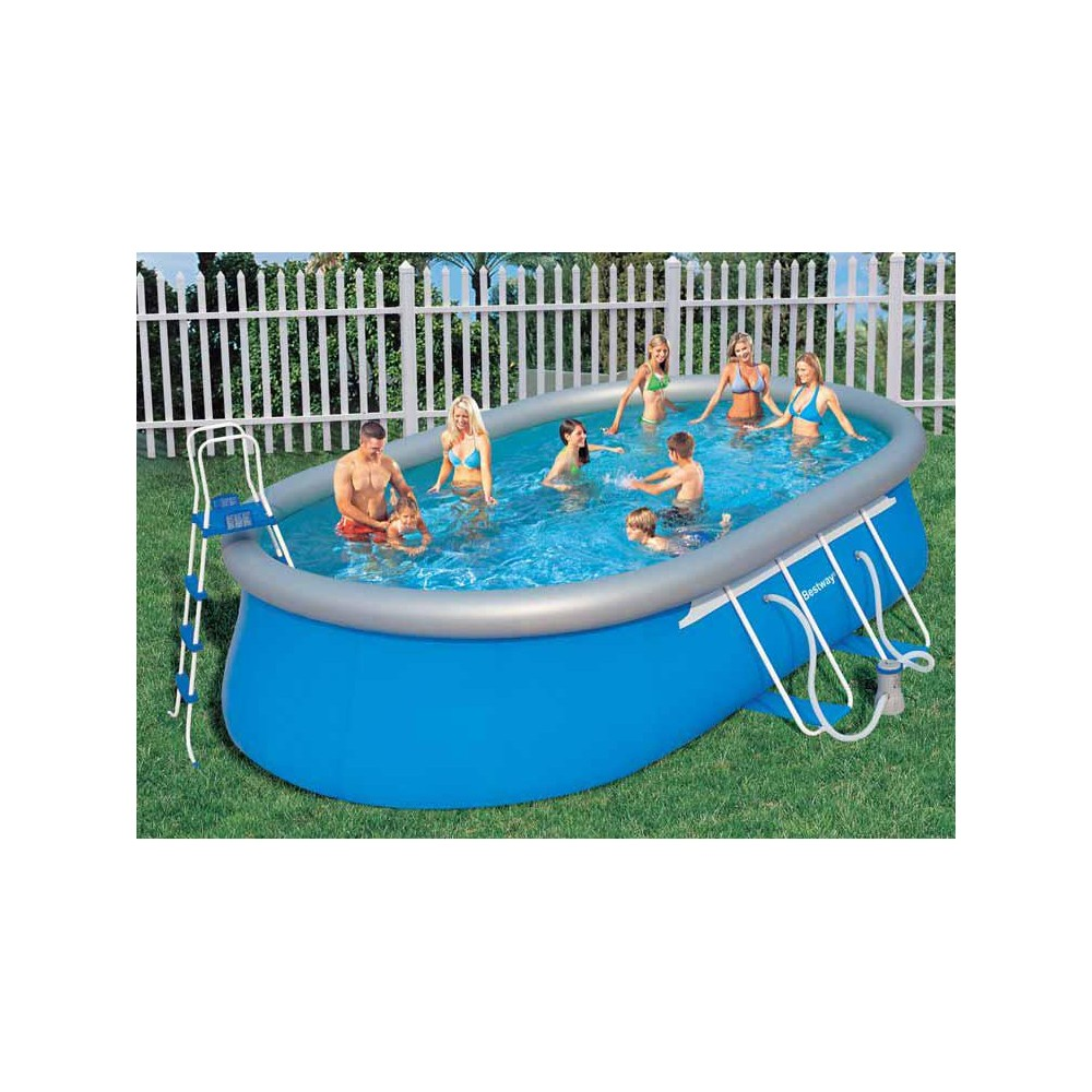 Bestway piscina autoportante cm 549x366x122 mod 56153 - Montaggio piscina bestway ...