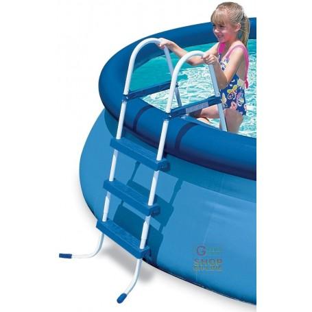 Bestway scala doppia salita per piscine altezza cm 91 for Piscine 91