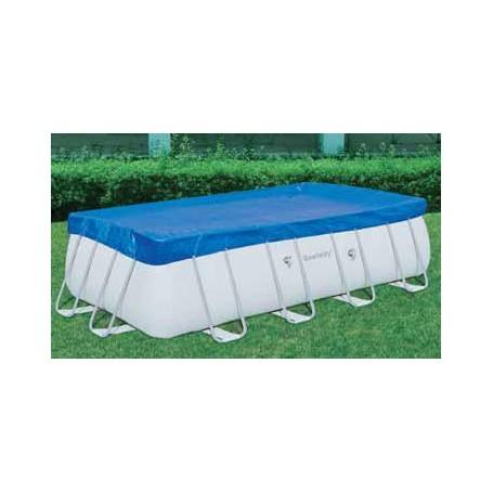 Bestway telo top copertura piscina con telaio diam cm for Teli copertura piscine