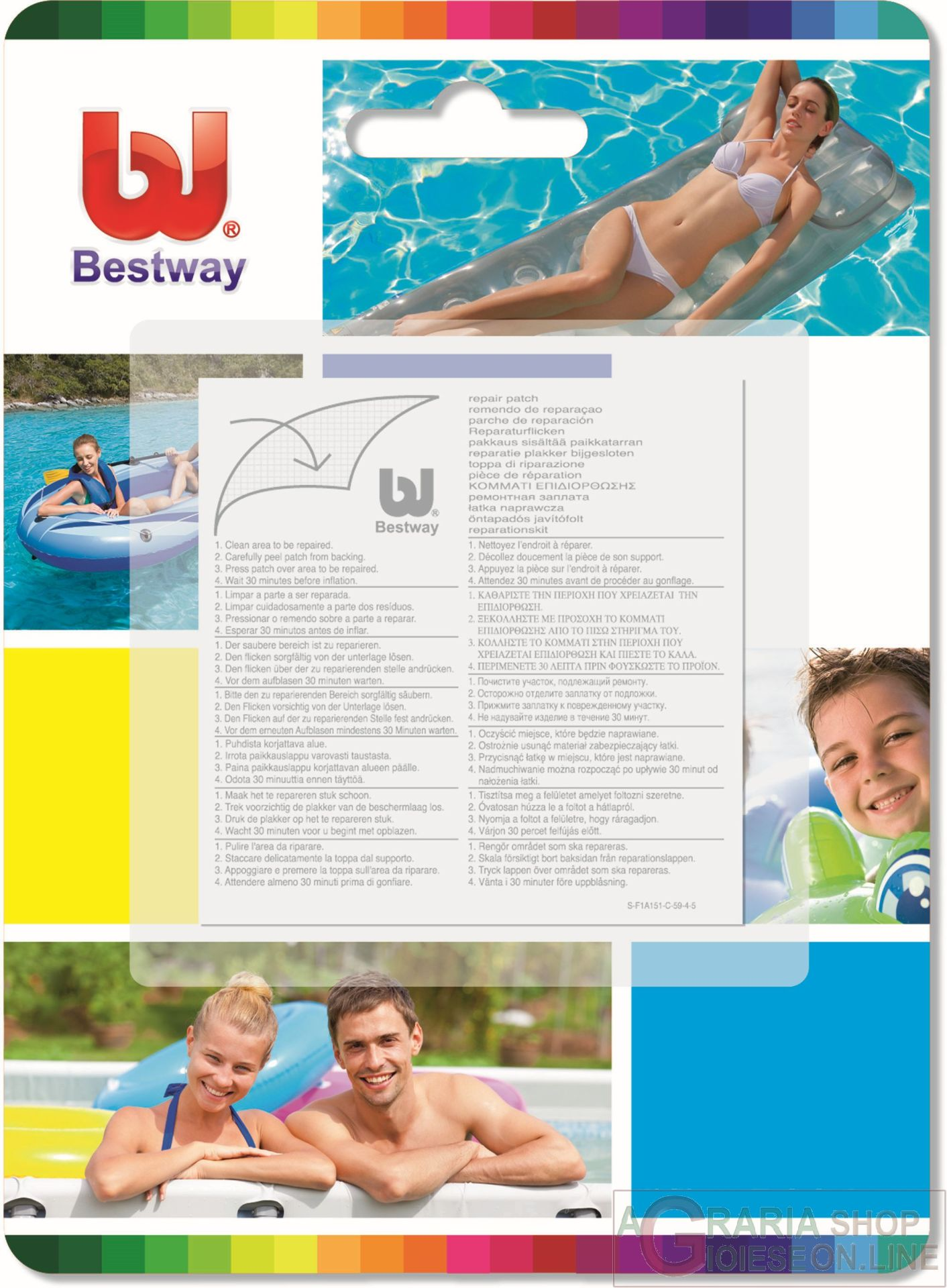 Bestway toppe di riparazione strong 10 pz incl 62068 - Riparazione telo piscina ...