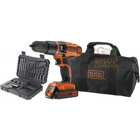 BLACK AND DECKER TRAPANO A PERCUSSIONE BATTERIA 18VP LITIO MOD.