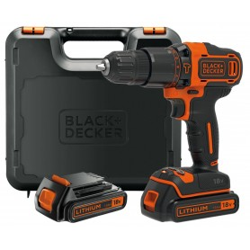 BLACK AND DECKER TRAPANO CON 2 BATTERIE 18VP LITIO MOD.