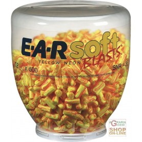 CARICA DA 500 PAIA TAPPI EARSOFT YELLOW NEON BLAST  PER DISPENSER ONE TOUCH  COLORE GIALLO ROSSO