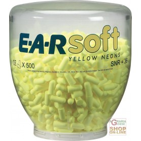 CARICA DA 500 PAIA TAPPI EARSOFT YELLOW NEON PER DISPENSER ONE