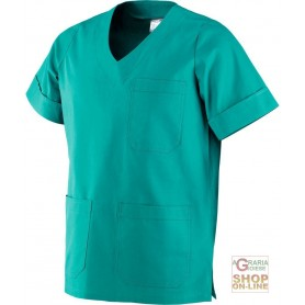 CASACCA USO MEDICO IN 100% COTONE COLORE VERDE TG XS XXL