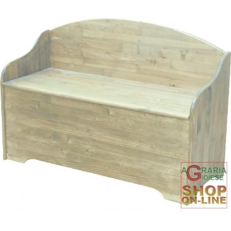 Cassapanca in legno con spalliera in abete 100x40x70 for Cassapanche in legno