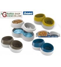 Ciotola doppia mangime e riserva acqua Bama Ciottolotto Medium