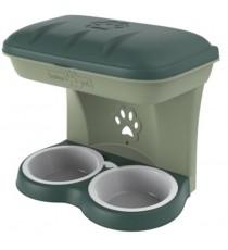 Ciotola per cani Bama Food Stand colore verde kit da appendere