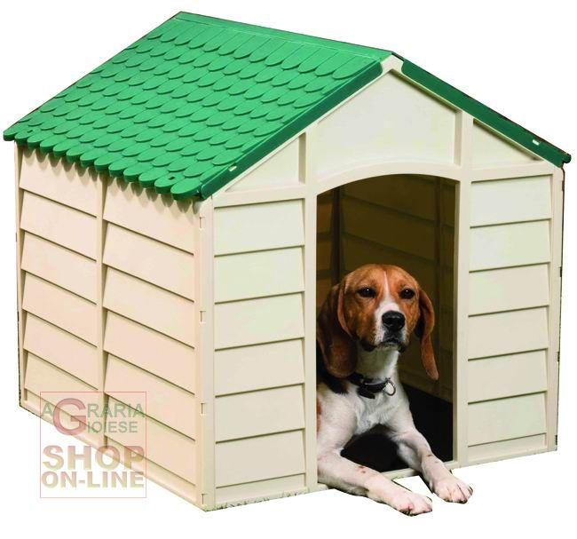 Casette Per Cani In Plastica.Cuccia Per Cani In Plastica Pvc Cm 72x71x68h Somtabile Verde