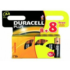 DURACELL PILE STILO 8+8 MN PLUS 16 BATTERIE