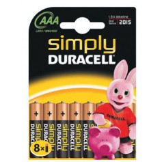 DURACELL SIMPLY ALCALINA MINISTILO 8 PZ. MN240