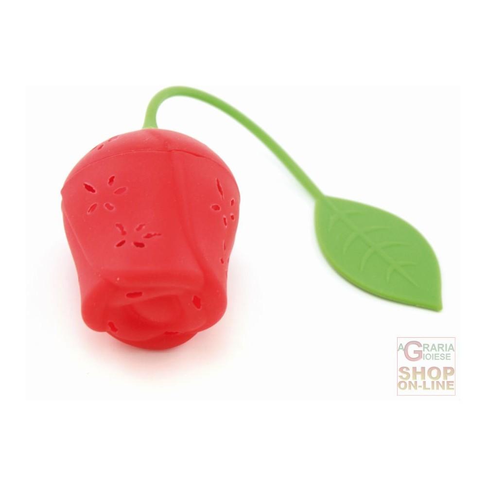 Fackelmann infusore per t tisane 5 per 5 cm in silicone a forma di rosa art 49137 - Tisane per andare in bagno ...