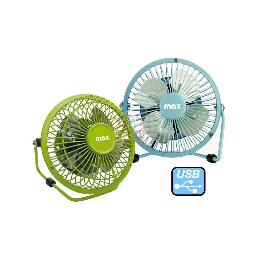 Ventilatore con alimentazione presa usb e supporto da tavolo 13 5 cm - Ventilatore da tavolo usb ...