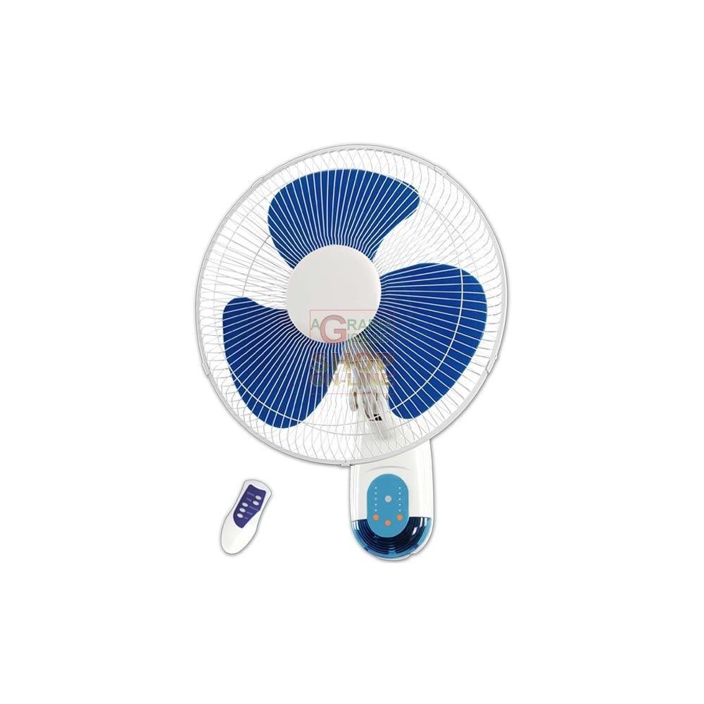 Max ventilatore da muro con telecomando for Ventilatore con telecomando