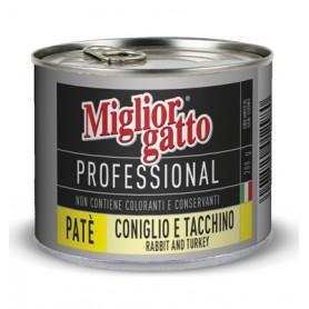 MIGLIORGATTO PATE PROFESSIONAL CONIGLIO E TACCHINO GR.200