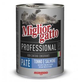MIGLIORGATTO PATE PROFESSIONAL TONNO SALMONE GR.400
