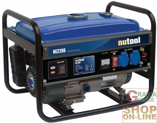 Nutool generatore di corrente ng2200 kw 2 2 hp 6 5 for Generatore di corrente 10 kw