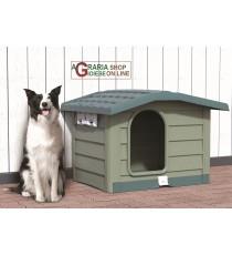 Cuccia per cani di media taglia Bama Bungalow verde dimensioni