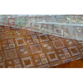 TOVAGLIA IN PVC GROFFATO CM. 140 H. MOD. CRISTAL INCISO N. 32