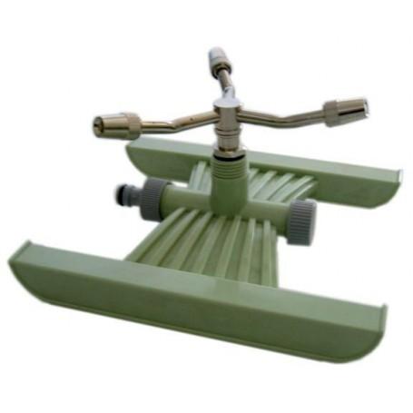 Irrigatore a girandola su slitta a tre braccia in ottone for Girandole per irrigazione