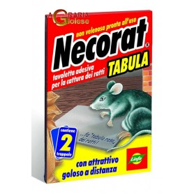 LINFA NECORAT TABULA TAVOLE ADESIVE PER TOPI E RATTI PZ. 2