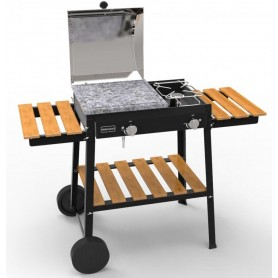 BARBECUE A GAS FERRABOLI MODELLO BIO COOKING A 2 FUOCHI cm. 120x59x86h.