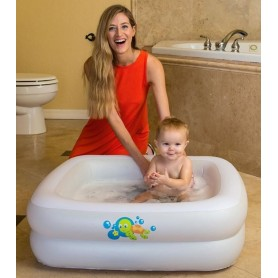BESTWAY 51116 PISCINA BAGNETTO BABY TUBE GONFIABILE CM. 86x86x25h.