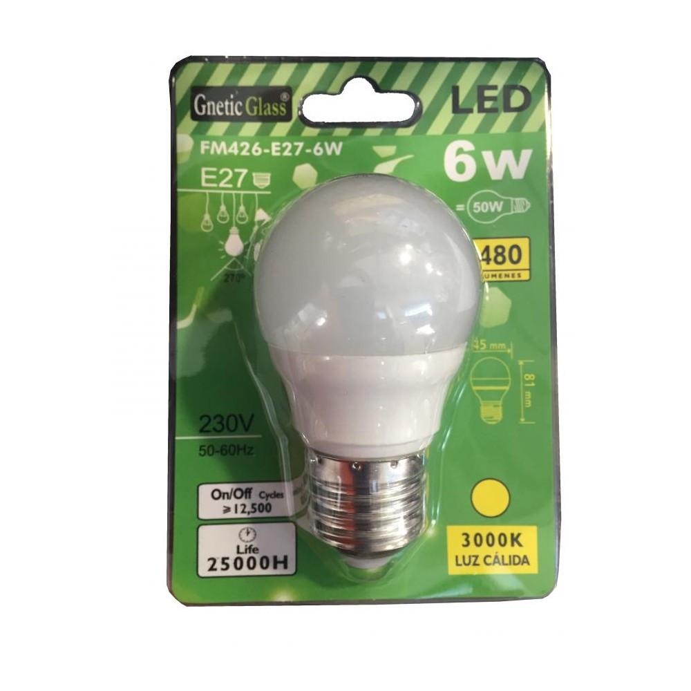 Lampadina a led luce calda 3000k 480 lumens e27 6w for Lampadine al led luce calda