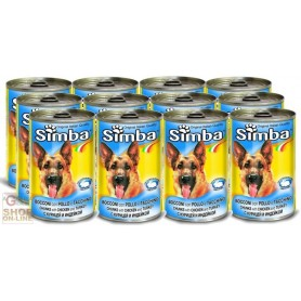 12 CANS SIMBA DOG KG. 1,230 CHICKEN AND TURKEY