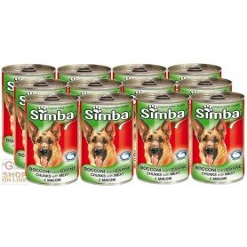 12 CANS SIMBA DOG KG. 1,230 CALF