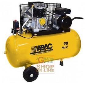 ABAC COMPRESSORE ARIA COMPRESSA 220V B26-90 CM2 HP. 2 LT. 90