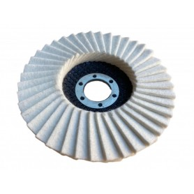 Abra beta Disco lucidatura su acciaio con feltro mm. 115x22