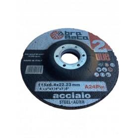 ABRABETA A24P MOLA ABRASIVA PER LA SBAVATURA ACCIAIO INOX DIAM. 115X6,4 mm.