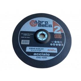 ABRABETA A24P MOLA ABRASIVA PER LA SBAVATURA ACCIAIO INOX DIAM. 230X6,4 mm.