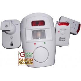ALARM SENSOR WITH 2 remote controls siren 105db