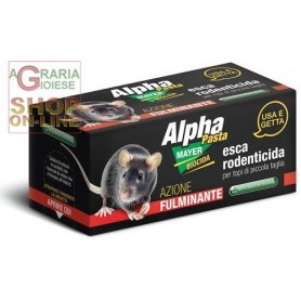 ALPHAMAYER PASTA BAIT RODENTICIDE READY TO USE FOR MICE OF SMALL SIZE GR. 10 PCS. 2
