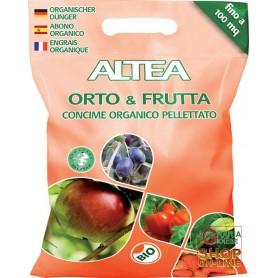 ALTEA GARDEN & FRUIT ORGANIC FERTILIZER PELLETS FOR VEGETABLES AND FRUIT PLANTS, 5 Kg