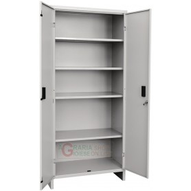 Closet are all metal with shelves, two doors Prometal-cm. 80x40x175h.
